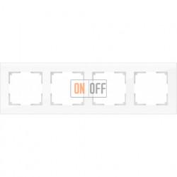 Рамка четверная Werkel Favorit, белое стекло a030822