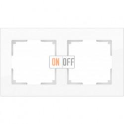 Рамка двойная Werkel Favorit, белое стекло a030820