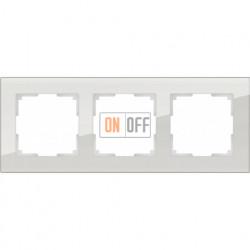 Рамка тройная Werkel Favorit, дымчатое стекло a030787