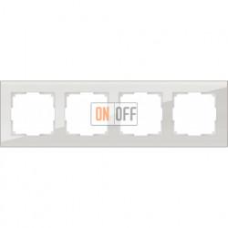 Рамка четверная Werkel Favorit, дымчатое стекло a030788