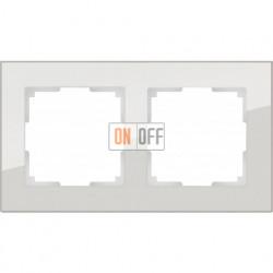 Рамка двойная Werkel Favorit, дымчатое стекло a030786