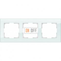 Рамка тройная Werkel Favorit, натуральное стекло a031477