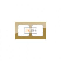 Рамка двойная Werkel Werkel Favorit, бронзовое стекло a036583