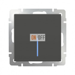 Выключатель одноклавишный проходной (из 2-х мест) с подсветкой  10 AX - 250 В, Werkel серо-коричневый a029869