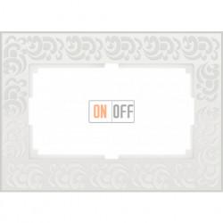 Рамка для двойной розетки Werkel Flock, белый a033483