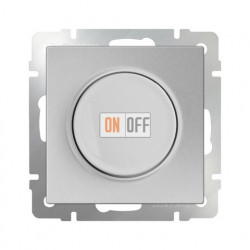 Светорегулятор поворотный до 600 Вт, Werkel серебряный a029837