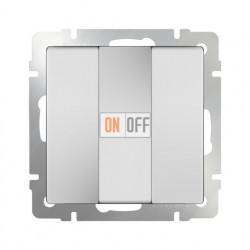 Выключатель трехклавишный 10 AX - 250 В, Werkel белый a033749