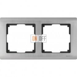 Рамка двойная Werkel Metallic, глянцевый никель a028860