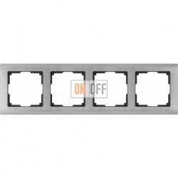 Рамка четверная Werkel Metallic, глянцевый никель a028862
