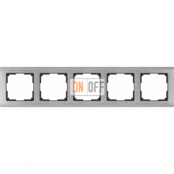 Рамка пятерная Werkel Metallic, глянцевый никель a030790