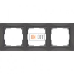 Рамка тройная Werkel Snabb, серо-коричневый a036700