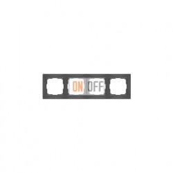 Рамка четверная Werkel Snabb, серо-коричневый a036701
