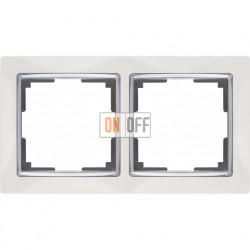 Рамка двойная Werkel Snabb, белый/серебро a028881