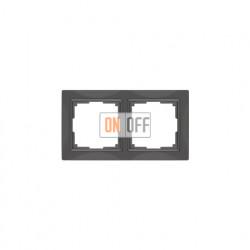 Рамка двойная Werkel Snabb, серо-коричневый a036699