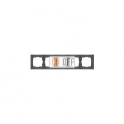 Рамка пятерная Werkel Snabb, серо-коричневый a036705