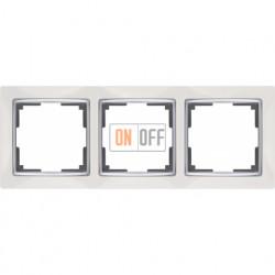 Рамка тройная Werkel Snabb, белый/серебро a028882