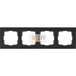 Рамка четверная Werkel Stark, черный a029217