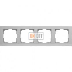 Рамка четверная Werkel Stark, серебряный a031805