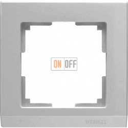 Рамка одинарная Werkel Stark, серебряный a031802
