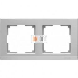 Рамка двойная Werkel Stark, серебряный a031803