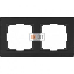 Рамка двойная Werkel Stark, черный a029215