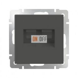 Интернет розетка двойная 5 категории RJ-45, Werkel серо-коричневый a033765