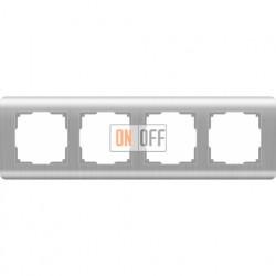 Рамка четверная Werkel Stream, серебряный a034329