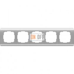Рамка пятерная Werkel Stream, серебряный a034330