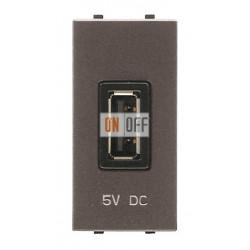 ABB NIE Zenit Механизм USB зарядного устройства, 1М, 750 мА антрацит N2185 AN