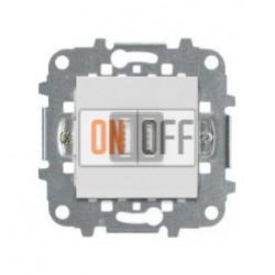 Механизм USB зарядного устройства, 2М, 2х750 мА / 1х1500 мА, АВВ Zenit, (белый) N2285 BL