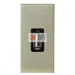 ABB NIE Zenit Механизм USB зарядного устройства, 1мод, 750 мА шампань N2185 CV