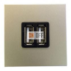 ABB NIE Zenit Механизм USB зарядного устройства, 2мод, 2х750 мА / 1х1500мА шампань N2285 CV