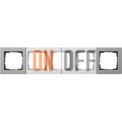 Рамка на 5 постов, сталь