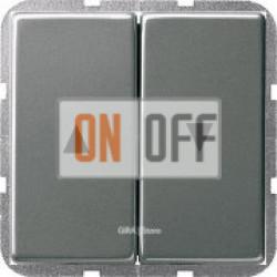 Выключатель жалюзи кнопочный, сталь