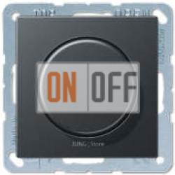 Светорегулятор поворотный 60-400 Вт, Антрацит