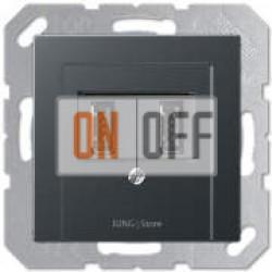 USB розетка для зарядки мобильных устройств, Антрацит
