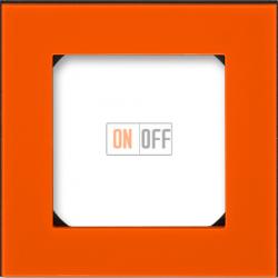 Рамка 1-ая (одинарная), цвет Оранжевый/Дымчатый черный, Levit, ABB