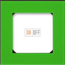 Рамка 1-ая (одинарная), цвет Зеленый/Дымчатый черный, Levit, ABB