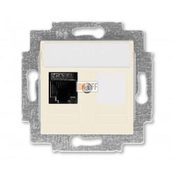 Розетка компьютерная RJ45 кат,6+заглушка, цвет Слоновая кость/Белый, Levit, ABB