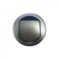 Встраиваемый люк круглый для фальшпола, 2 модуля, диаметр 100 мм,  латунь