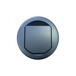 Встраиваемый люк круглый для фальшпола, 2 модуля, диаметр 100 мм, оцинкованная сталь