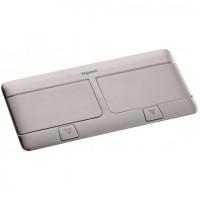 Выдвижной блок, 8 (2х4) модулей c монтажной пластиковой коробкой, IP 40, Нерж. сталь