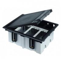 Лючок для наливного пола Simon Connect на 3 s-модуля (серый) c монтажной коробкой