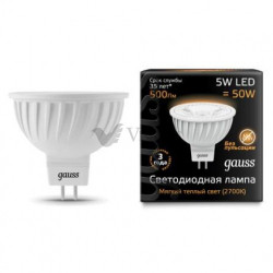 Лампа Gauss LED MR16 GU5.3 5W 3000K 101505105
