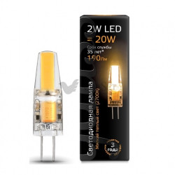 Лампа Gauss LED G4 2W 220V 2700K 107707102