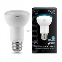 Лампа Gauss LED Reflector R63 E27 9W 4100K 1/10/40 106002209