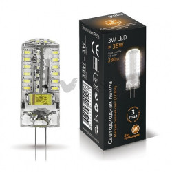 Лампа Gauss LED G4 3W 12V 2700K 207707103