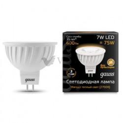 Лампа Gauss LED MR16 GU5.3 7W 2700K 101505107