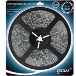 Светодиодная лента Gauss 3528/60-SMD 4.8W 12V DC cиний свет IP66 311000505