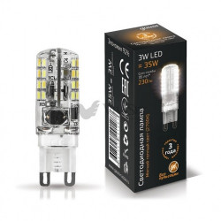 Лампа Gauss LED G9 3W 2700K 107709103
